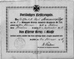 Militärdokumente von Karl Ammersilge