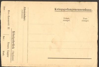 """Carte postale d'après gravure intitulée """"Tourisme !"""" (verso)"""