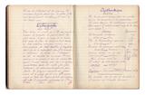 """FRAD087_063-""""Cahier de devoirs du jour"""" de Suzanne Legrand"""