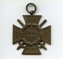 Ehrenkreuz für Frontkämpfer und Verleihungsurkunde von Johann Paulus