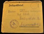 Feldpostbrief über Schützengräben von Fritz Scholl an seine Schwester
