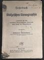Lehrbuch der Stolzeschen Stenographie