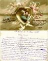 FRAD071-021 Claudia REURE reçoit des cartes postales de ses amies