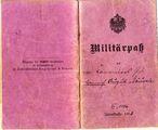 Militärpaß von Heinrich Bäuerle