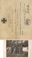 Besitzzeugnis des Eisernen Kreuzes II. Klasse