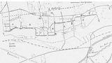 Karte mit Stellungen des Infanterie-Regiments Nr. 160 während der Winterschlacht in der Champagne bei Souain