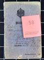 Militärpass vom Vizefeldwebel Wilhelm Wohlers