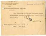 Nachweis Sachsen- Altenburgische Tapferkeitsmedaille
