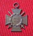 Ehrenkreuz für Fontkämpfer, Urkunde und Medaille 1914-1918