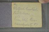 Notizbuch mit Namen und Adressen der Mitgefangenen von Alwin Metz