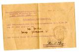 Besitzausweis Eisernes Kreuz II. Klasse Arthur Götze