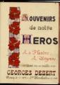 """FRBMLI-010/2 Histoire  de Georges Debert """"Souvenirs de notre héros"""""""