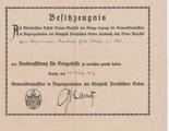 Verdienstkreuz für Kriegshilfe an den Büchsenmacher-Vorarbeiter Ernst Meier 1917