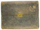 Briefmappe aus Leder 1914