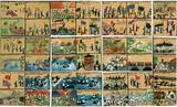 Zeichnungen von Kriegsereignissen des Schülers Franz Przybyla