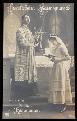 Glückwunsch Karte zur ersten heiligen Kommunion