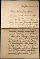 Briefwechsel und Tagebucheinträge