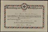 Zertifikat über die Sammlung von Goldschmuck von Theresia Wanner