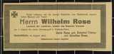 Persönliche Dokumente von Wilhelm Rose