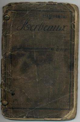 Extraits du livret militaire de Maurice HERBEAUX