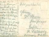 Jebens, Gustav (1888-1916), Postkarte