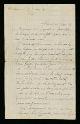 Lettre de Germain Clément