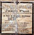 """""""Gefallen für das Vaterland"""". In Erinnerung an den Landwehrmann Jakob Paul"""