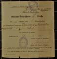 Militärpass und Fahrschein von Ernst Moritz Schöne