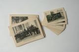 Kaarten met afbeeldingen van het soldatenleven in de mobilisatietijd. 34 kleine en 32 grote kaarten. Omschrijving achterop.