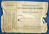 Karl Hermann Förster schreibt aus französischer Kriegsgefangenschaft - 1. Jahr: 1915
