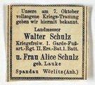 Gefreiter Walter Schulz aus Preußisch Stargard