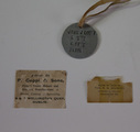 "John J. Looby's ""dog tag"""