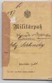 Militärpass des Gefreiten Max Schlinsky