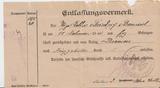Entlassungsvermerk Gefangenschaft von Friedrich Bernard