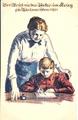 """Zeichnung """"Der Brief an den Vater im Krieg"""""""