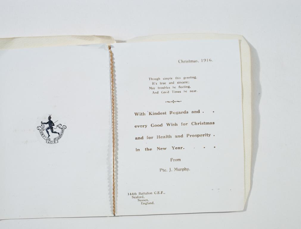 Europeana 19141918 James Anthony Jim Murphy Philip Fip – How to Address a Birthday Card