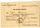 Besitzzeugnis Verwundetenabzeichen Bruno Nesemann