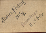 Italienischer Feldzug  K.u.K. Hauptmann Blüthgen