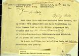 Nachrichten des Kriegsministeriums über den Verbleib von Alwin Metz