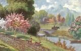 Feldpostkarte - colorierte Landschaftsaufnahme