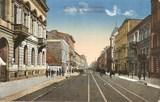Feldpostkarte - colorierte Stadtansicht Lodz, Polen
