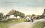 Feldpost - colorierte Ansicht Dorf in Polen