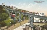 Feldpostkarte - colorierte Aufnahme von der Bergschwebebahn Loschwitz bei Dresden