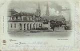 Postkarte, Ansicht Fulda, Bonifaciusplatz