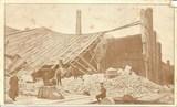 Feldpostkarte - zerstörtes Gebäude in Lodz