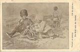 Feldpostkarte - Schreibender Soldat