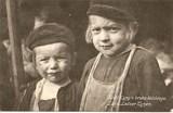 Feldpostkarte - Zwei Kindergesichter
