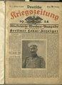 Deutsche Kriegszeitung - Illustrierte Wochenausgabe, herausgegeben vom Berliner Lokal-Anzeiger