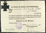 Ehrenkreuz für Kriegswitwen von Franziska Ritter