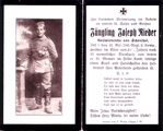Rieder Joseph jun. (*19.11.1896), Wirtssohn aus Schönthal in der Oberpfalz